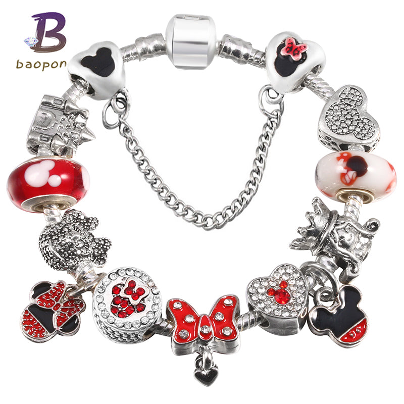 38f400aea ... purchase baopon childrens fashion jewelry mickey crystal pandora  bracelet for krystalclearboutique 9bbf7 0a1eb