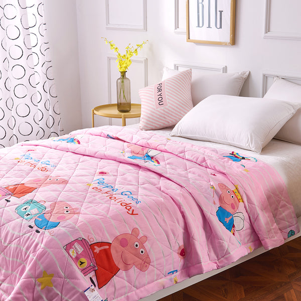 Cartoon Summer Peppa Pig Kids Baby Blanket Comforters Bedspread Bed Cover Quilting Home Textiles