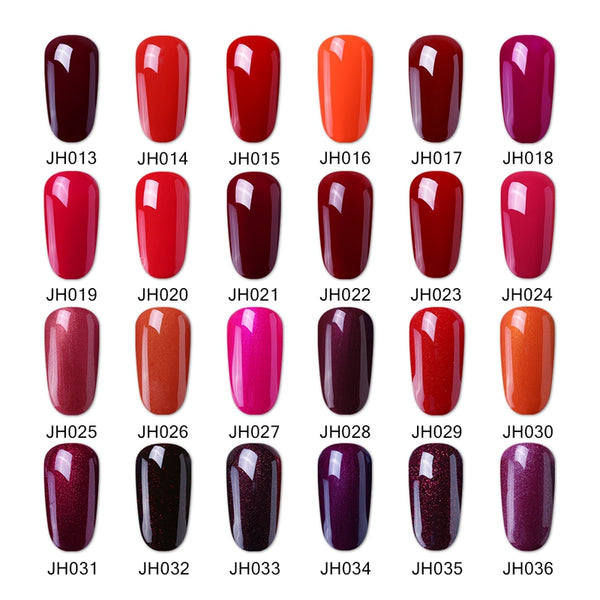 Elite99 10ml Soak Off UV Gelpolish Hot Sale Wine Red Serie UV Nail ...