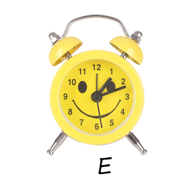 emoji emoticon twin bell silent alloy stainless metal cute alarm