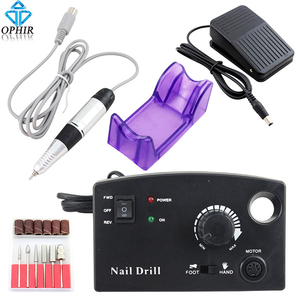 OPHIR 30000RPM Pro Nail Tool 110V US Plug Electric Nail Drill ...