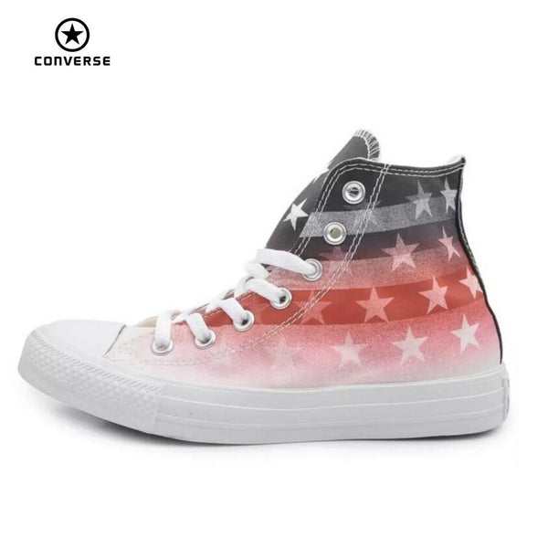 6f0742b3a426 Original Converse all star shoes national flag Color matching high men  women s sneakers canvas classic Skateboarding ...
