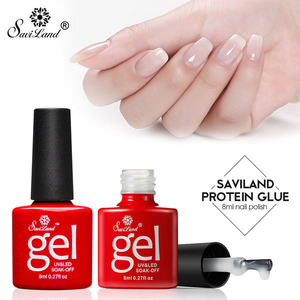 Saviland Opal Jelly Gel White Clear Milky Protein Color Gel Polish ...
