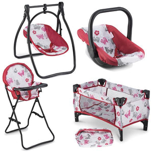 Baby Doll Accessories - 4 Piece Set