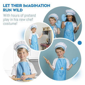 Blue Chef Set With Cookbook - 11 Piece