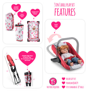 Litti Pritti 3 in 1 Doll Play Set