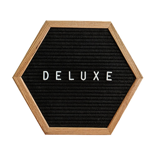"Black Hexagon Felt Letter Board 12"" Bundle"