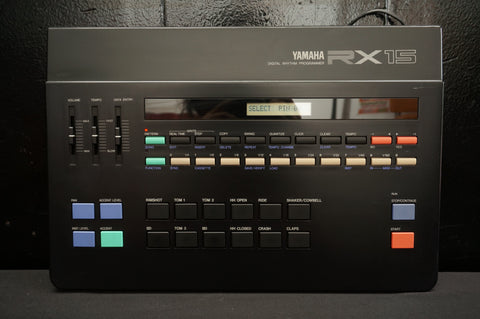 Yamaha RX15 RX-15 Programmable Digital Drum Rhythm Machine Sequencer & MIDI 100 - 100V