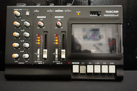 Tascam Porta 02 MKii MK2 Black 4 Track Analogue Cassette Recorder Serviced & Box