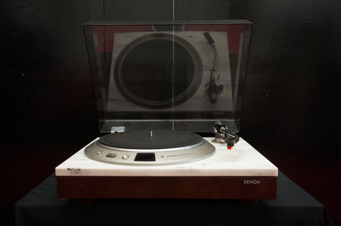 Denon DP-2000 Audiophile Quartz Direct Drive Turntable W/ DP-2800 Marble Top!