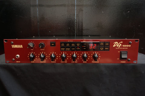 Yamaha DG-1000 Guitar Pre-amplifier Motorised 2U Rack Mount - 100V