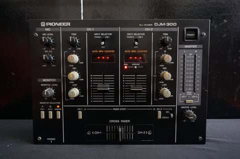 Pioneer DJM-300 Two Channel Performance DJ Mixer w/ 3-Band EQ - 100V