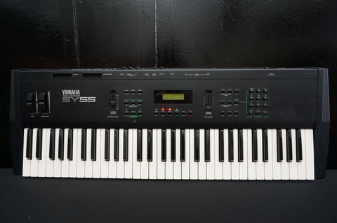 Yamaha SY55 90's Polyphonic Synthesiser w/ Effects MIDI & Sequencer -100V
