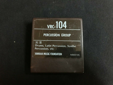 Yamaha DX7 Voice Data Rom Cartridge VCR-104 Percussion Group