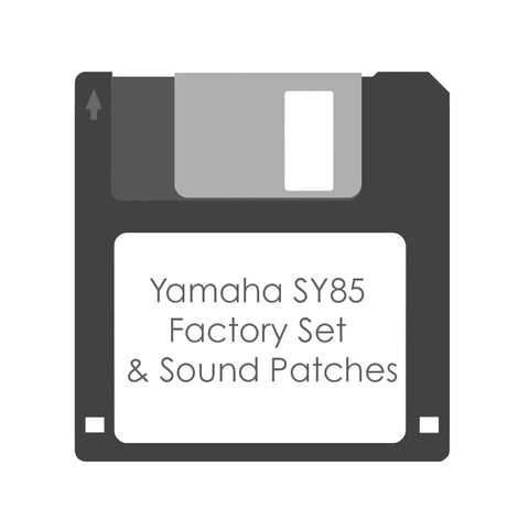 Yamaha SY85 Factory Set System & Sound Patches Floppy Disk - Made to order