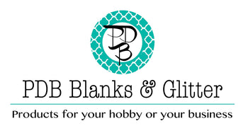 Craft blanks and glitter for personalization and monograming