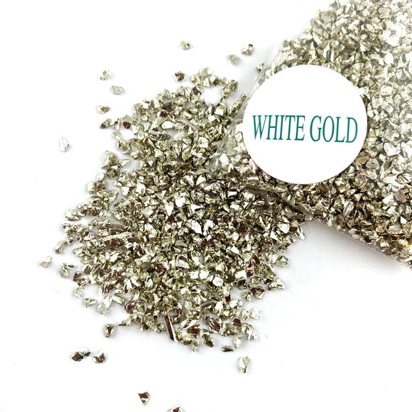 CRUSHED GLASS - WHITE GOLD