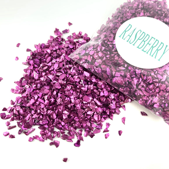 CRUSHED GLASS - RASPBERRY