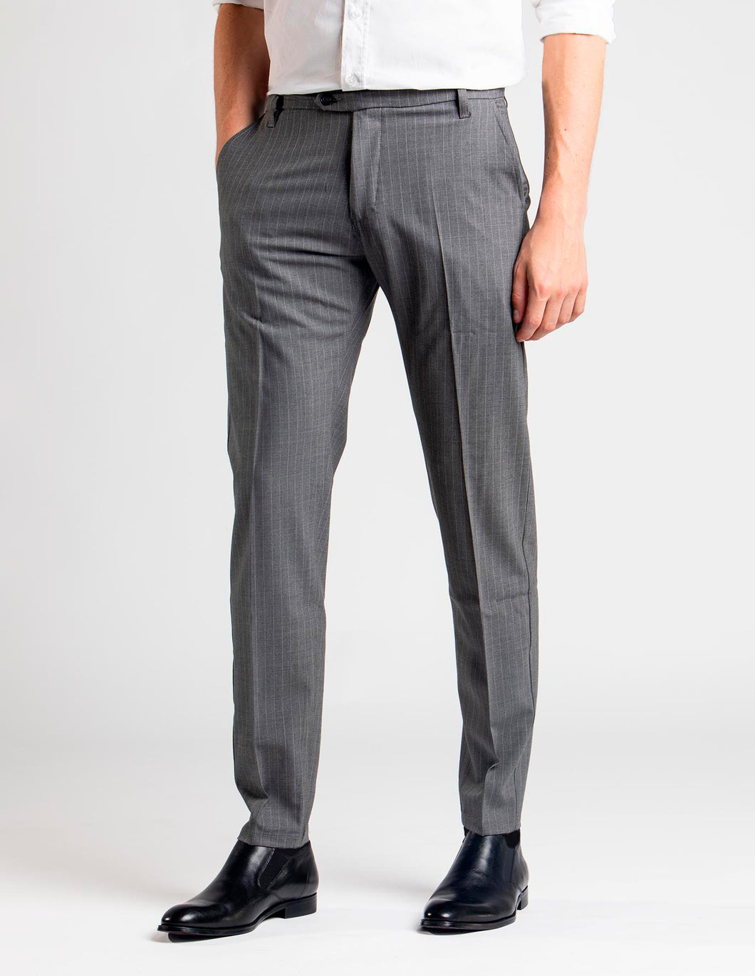 SNT Pico Pants Light Grey Pinstriped