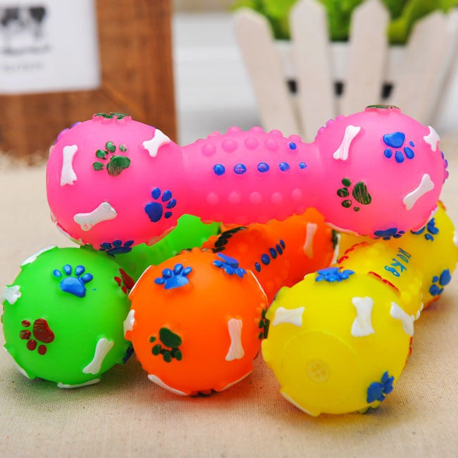 Colorful dumbbell for pet