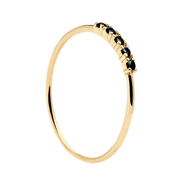 Anillo Black Misty gold