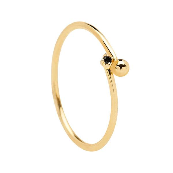 Anillo Black Essentia Gold
