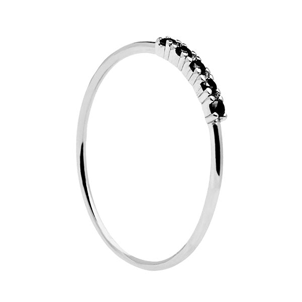 Anillo Black Misty Silver