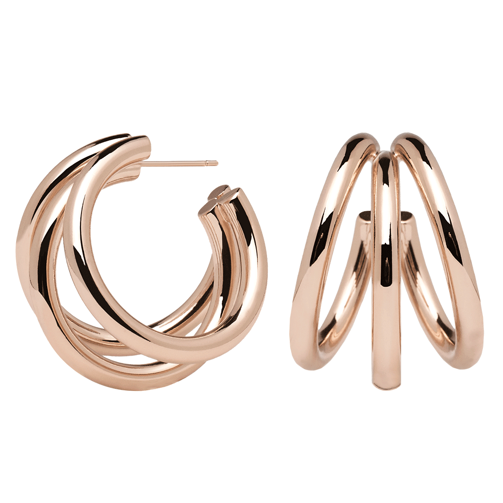 Pendientes True rose gold