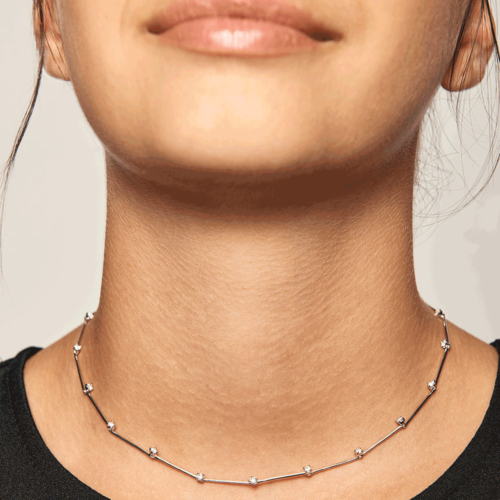 Collar Bloom Silver