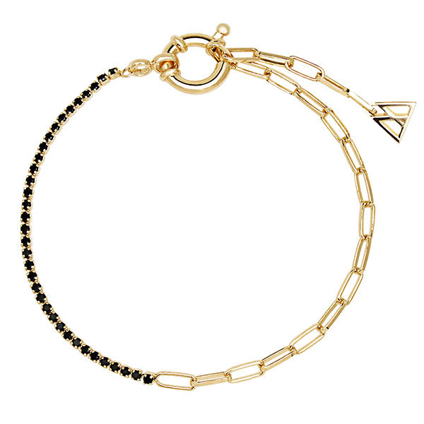 Pulsera Black Mirage gold