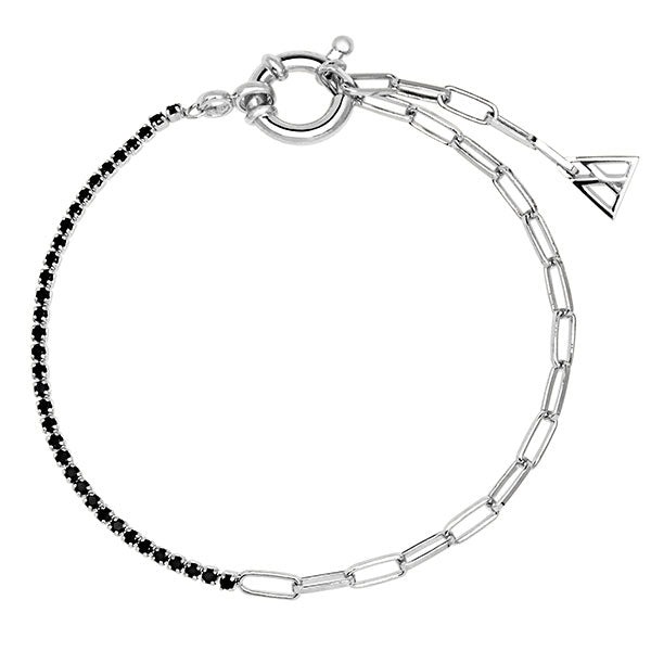 Pulsera Black mirage Silver