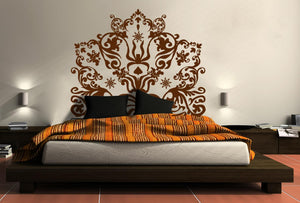 Testata Letto Floreale Wall Stickers MyCollection