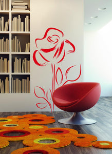 Wall Stickers Rosa e Foglie MyCollection