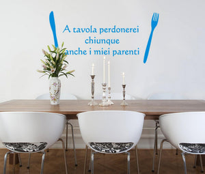 Wall Stickers A tavola perdonerei MyCollection