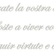 Wall Stickers Fatti non foste MyCollection