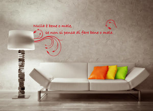 Wall Stickers Nulla è bene o male MyCollection