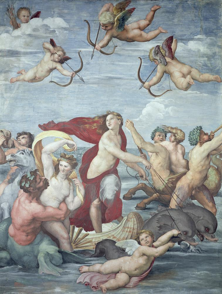 Trionfo di Galatea, Raffaello Sanzio, 1512 Carta da parati MyCollection