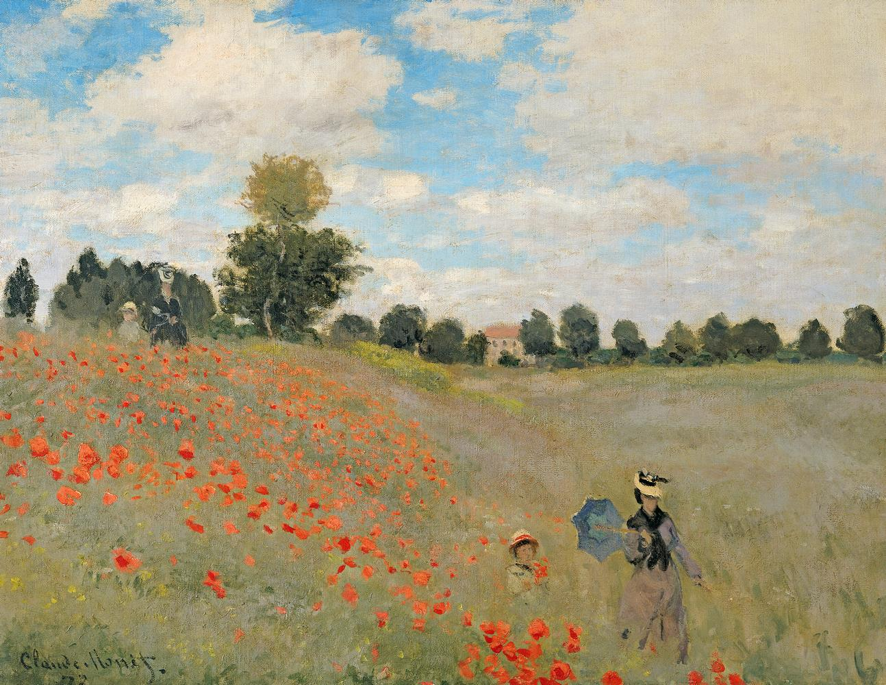 Carta da parati Campo di papaveri vicino a Argenteuil, Monet MyCollection