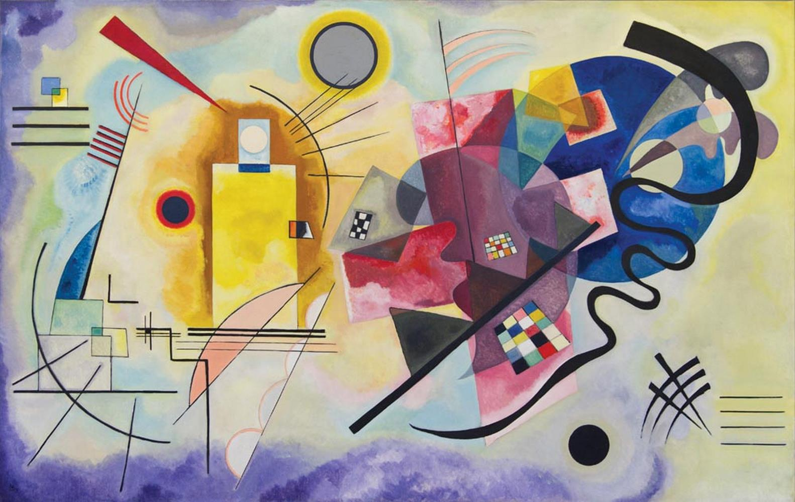 Giallo, rosso, blu, Kandinsky Carta da parati MyCollection