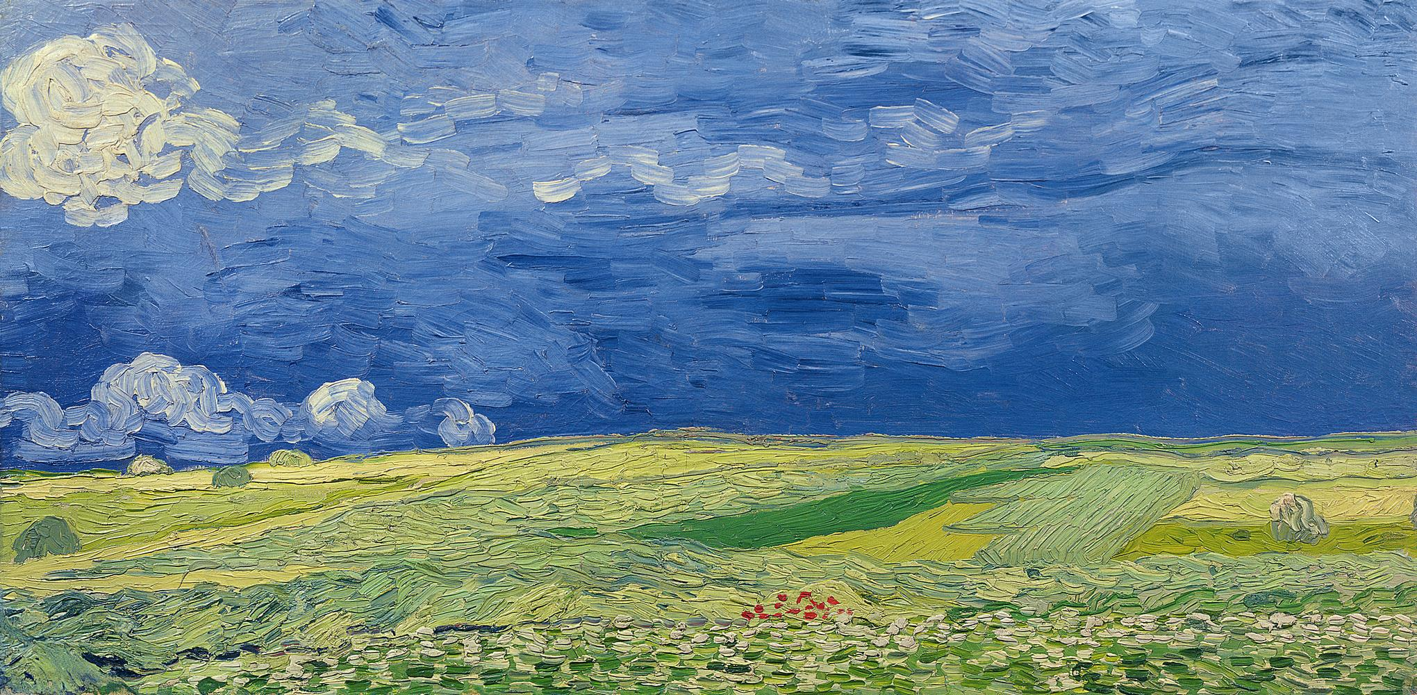 Ombre su campo di grano, 1890 Vincent Van Gogh Carta da parati MyCollection
