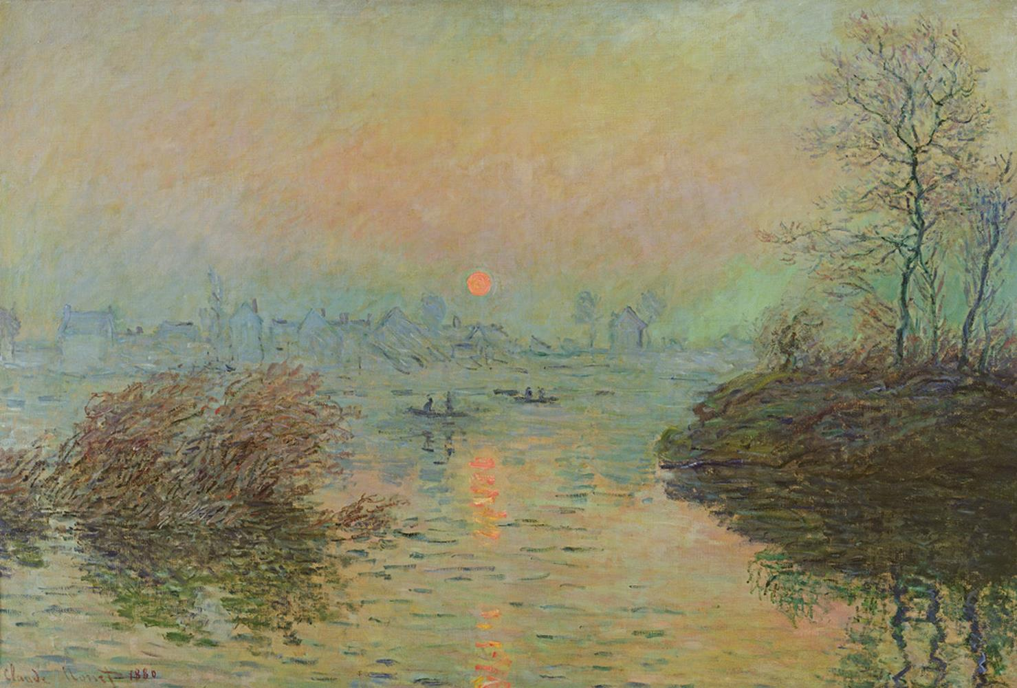 Tele decorative Tramonto sulla Senna, Claude Monet MyCollection