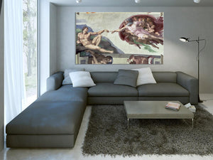 Tele decorative Creazione di Adamo ed Eva, Cappella Sistina MyCollection