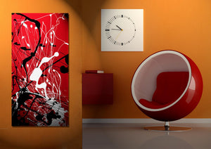 Rosso Nero Quadri in Plexiglass MyCollection