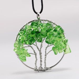 Tree Of Life Quartz Chips Necklace