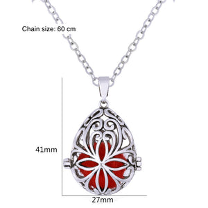 Water Drop Pendant Necklace - Aromatic Essential Oil Diffuser (1 pc)