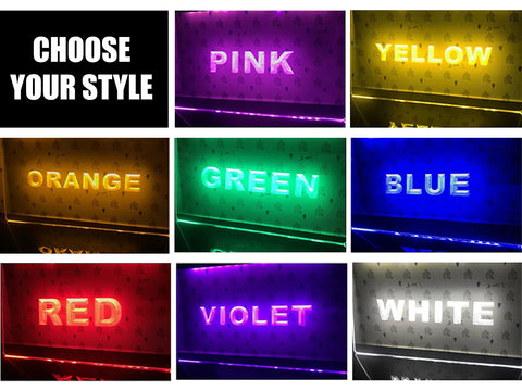 Image of Home Bar Personalized Illuminated Sign