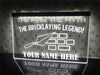 Bricklaying Legend Personalized Illuminated Sign