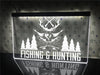 Fishing and Hunting Illuminated Sign