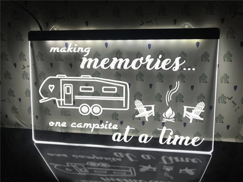 Image of Making Memories in 5th Wheel Illuminated Sign