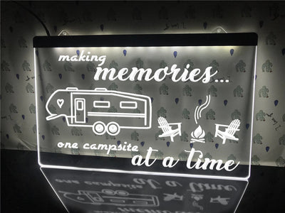 Making Memories in 5th Wheel Illuminated Sign